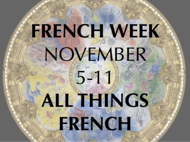 It's French Week Wear a French Design
