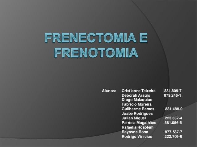 Alunos: Cristianne Teixeira 881.809-7 Deborah Araújo 879.246-1 Diogo Malaquias Fabrício Moreira Guilherme Ramos 881.488-0 ...