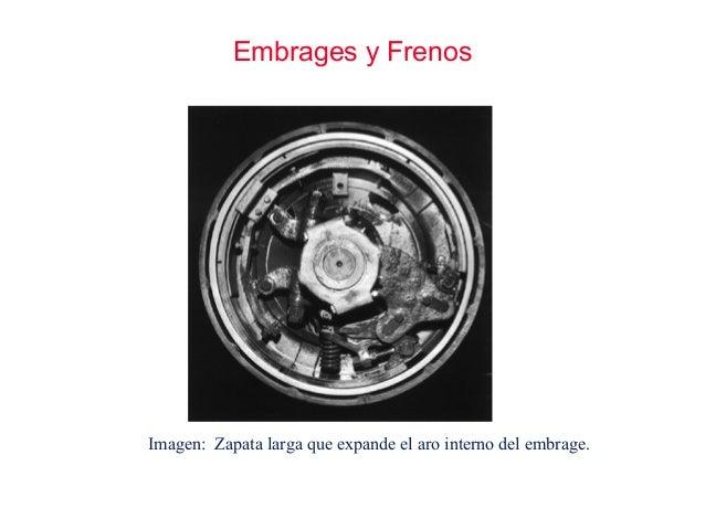 Embrages y Frenos Imagen: Zapata larga que expande el aro interno del embrage.