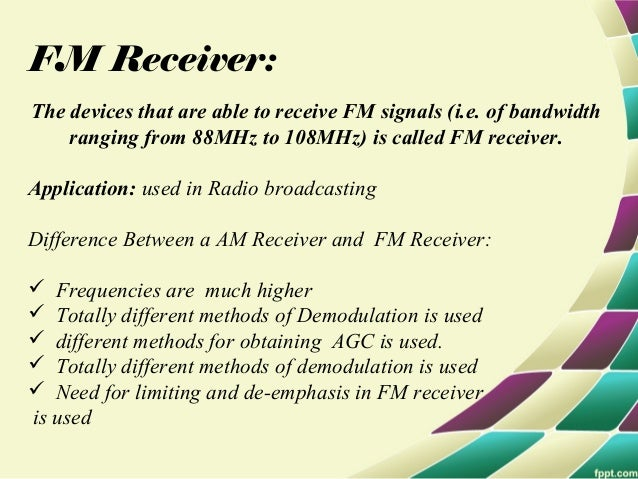 Frequency modulation and its circuits