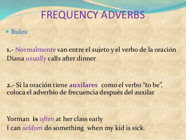 Frequency adverbs Slide 3