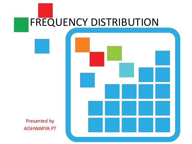 FREQUENCY DISTRIBUTION Presented by AISHWARYA PT