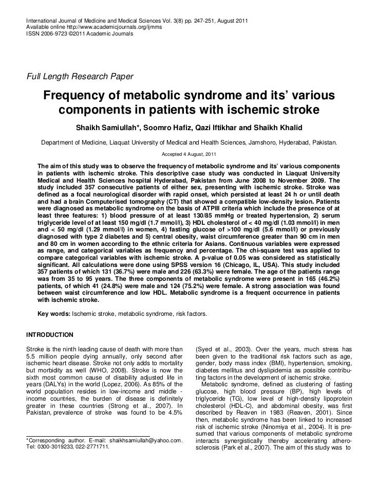 International Journal of Medicine and Medical Sciences Vol. 3(8) pp. 247-251, August 2011Available online http://www.acade...