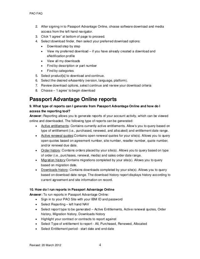 IBM Passport Advantage FAQs