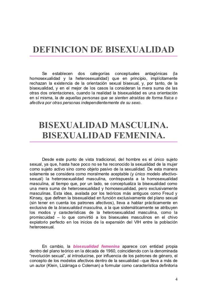 Bisexual definicion concepto
