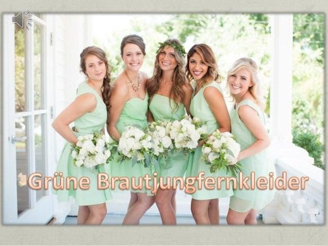 Fresche grüne brautjungfernkleider online persun