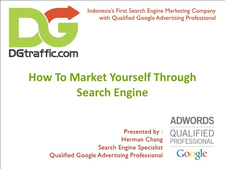 Indonesia's First Search Engine Marketing Company                     with Qualified Google Advertising Professional     Ho...
