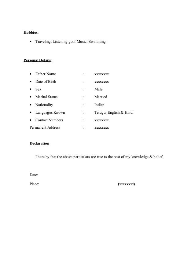 fresher resume sample15 by babasab patil