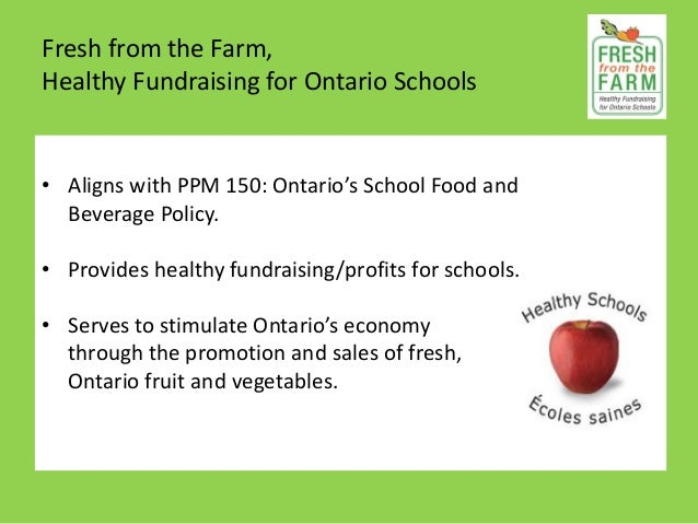 Fresh From The Farm Healthy Fundraising For Ontario Schools