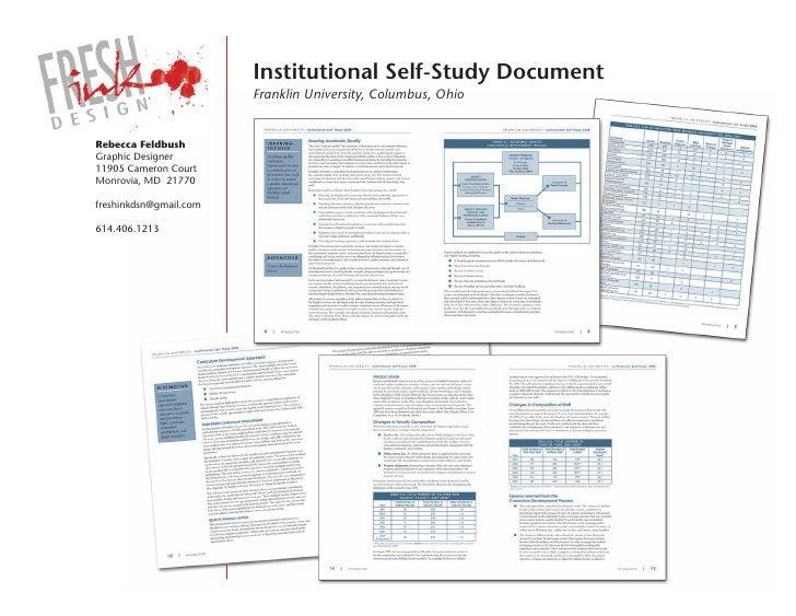 institutional self-study Document                         Franklin University, Columbus, Ohio   Rebecca Feldbush Graphic D...