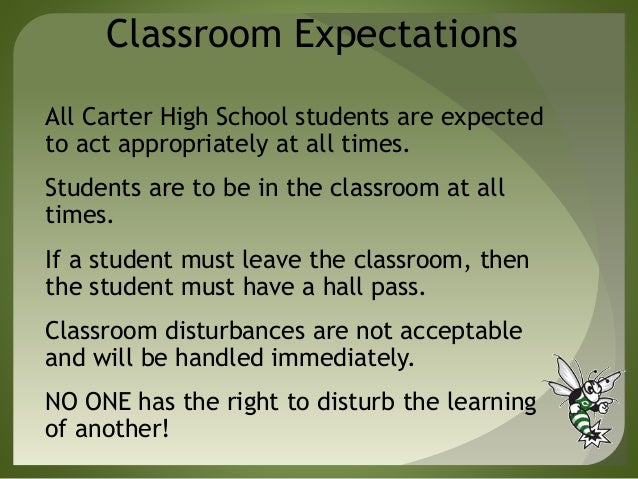the overwhelming expectations in high school High school: exciting opportunity or overwhelming challenge   consolidation, the high school principalship, and leadership for learning donald  g  educational pride and expectations of academic excellence while the  metropolis.