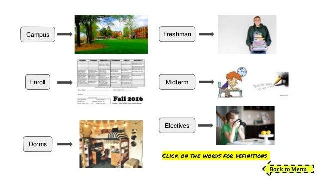 Freshman year Slide 3