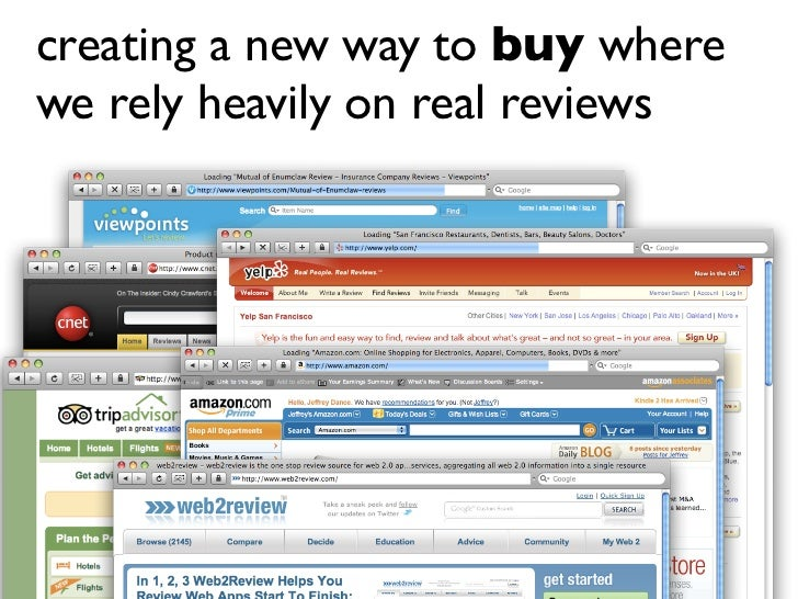creating a new way to buy where we rely heavily on real reviews