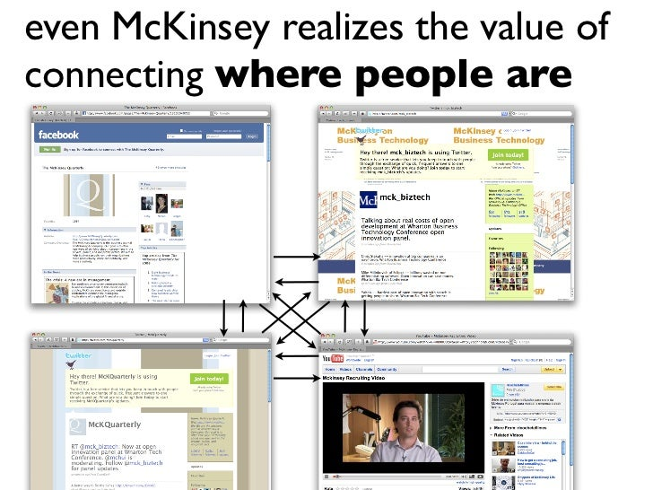 even McKinsey realizes the value of connecting where people are