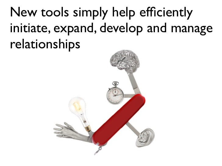New tools simply help efficiently initiate, expand, develop and manage relationships