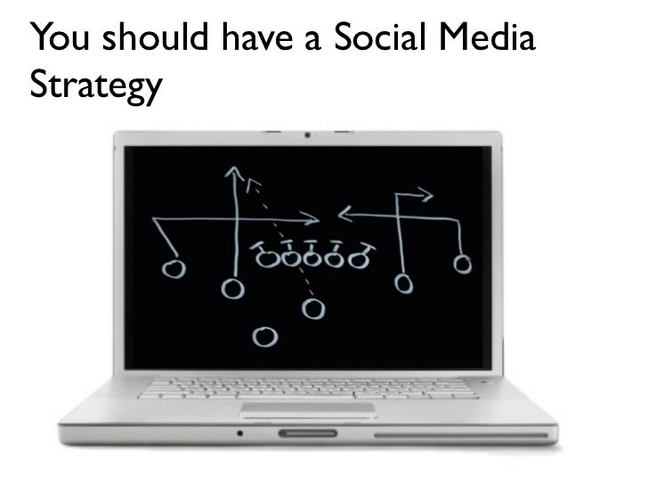 You should have a Social Media Strategy
