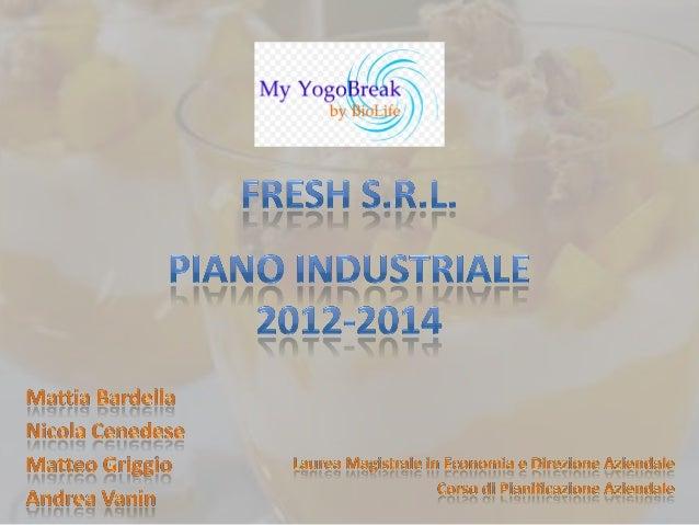 1. Introduzione2. Intenzioni Strategiche: My YogoBreak3. Redditività Prospettica & Action Plan4. Piano Operativo5. Analisi...