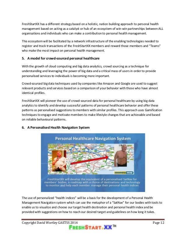 Freshstartxx blueprint for a revolution in personal health manageme malvernweather Gallery