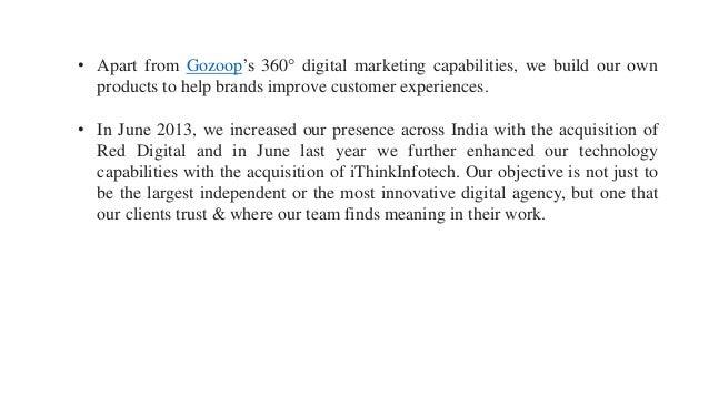 Fresh thinking in india- Gozoop