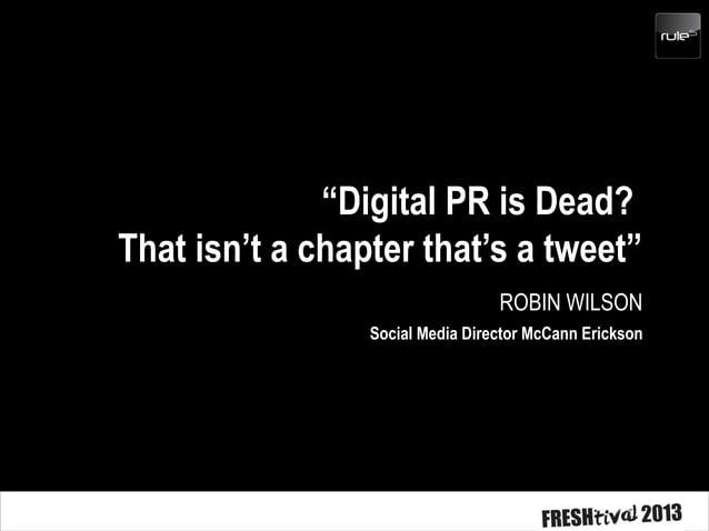 Social Media is new