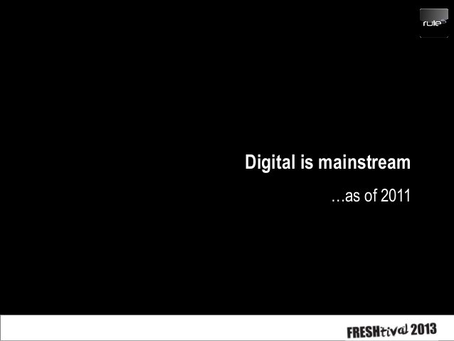 If digital is just an evolution and all communications is now digital there is little point in using the word. Digital com...