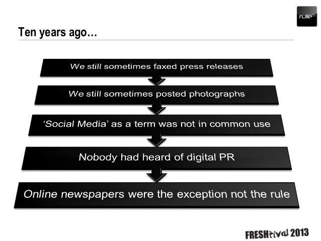 PR Past & Future - Digital PR is Dead Slide 3