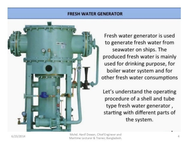 fresh water generator rh slideshare net fresh water generator parts alfa laval fresh water generator manual pdf