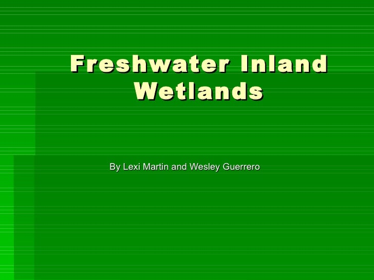 Fr eshwater Inland     Wetlands  By Lexi Martin and Wesley Guerrero