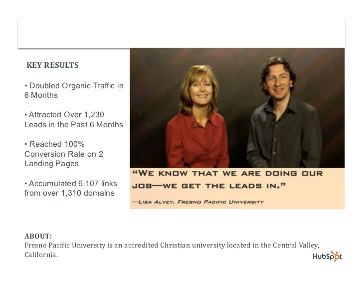 University Doubles Organic Traffic and Grows Lead Conversions with HubSpot Slide 2