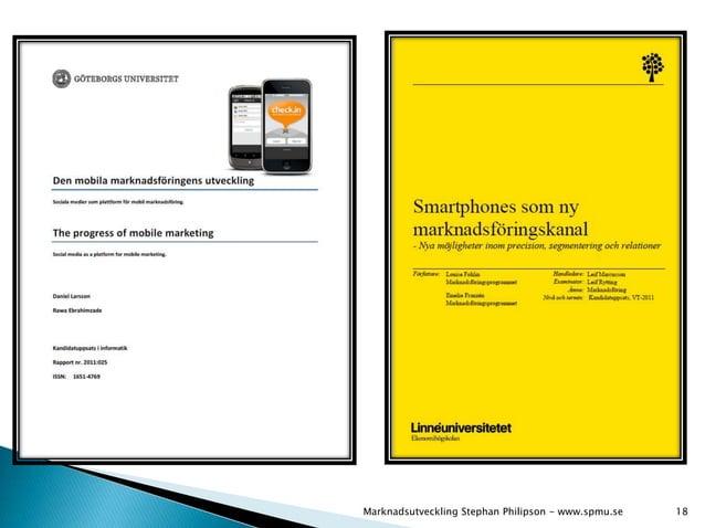 Marknadsutveckling Stephan Philipson - www.spmu.se 18