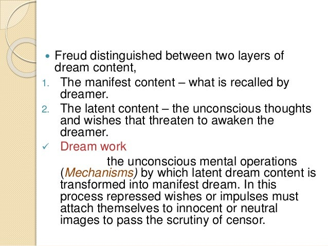 freud manifest content