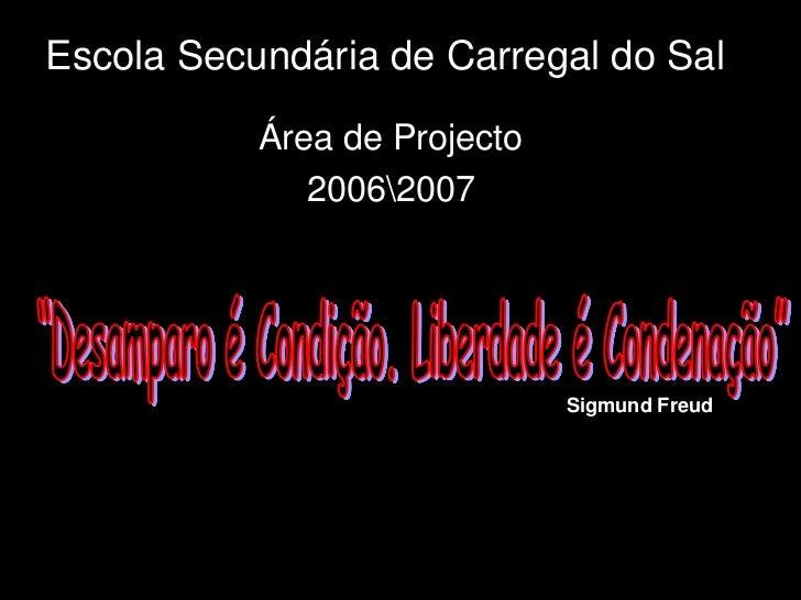 Escola Secundária de Carregal do Sal           Área de Projecto              20062007                              Sigmund...