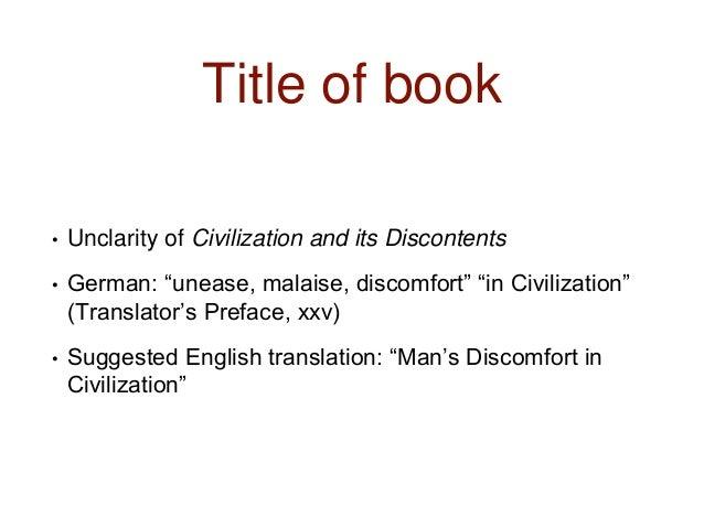 sigmund freud civilization and its discontents summary