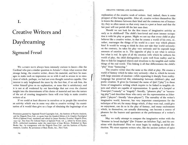 Essay about freud as a writer