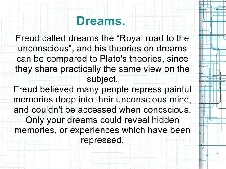 Freudian theories - dreams etc