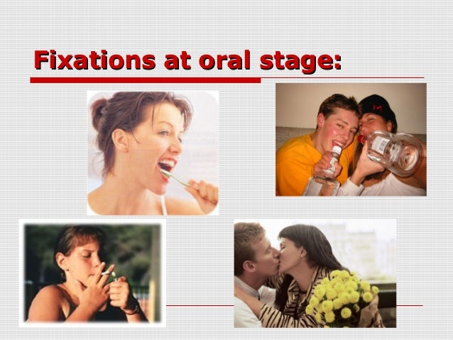 example of oral stage