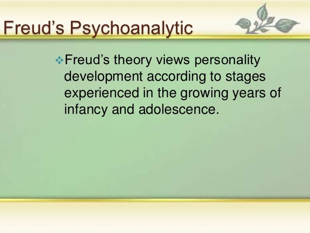 frueds psychoanalytic theory essay Free essay: freud's structure of the mind at the age of 40 in 1896, sigmund freud introduced the world to a new term- psychoanalysis (gay 1) psychoanalysis.