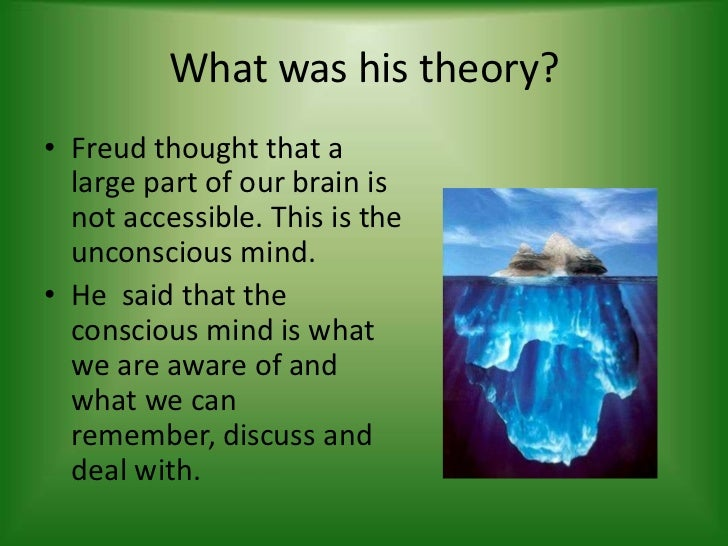 what is freud's unconscious theory and