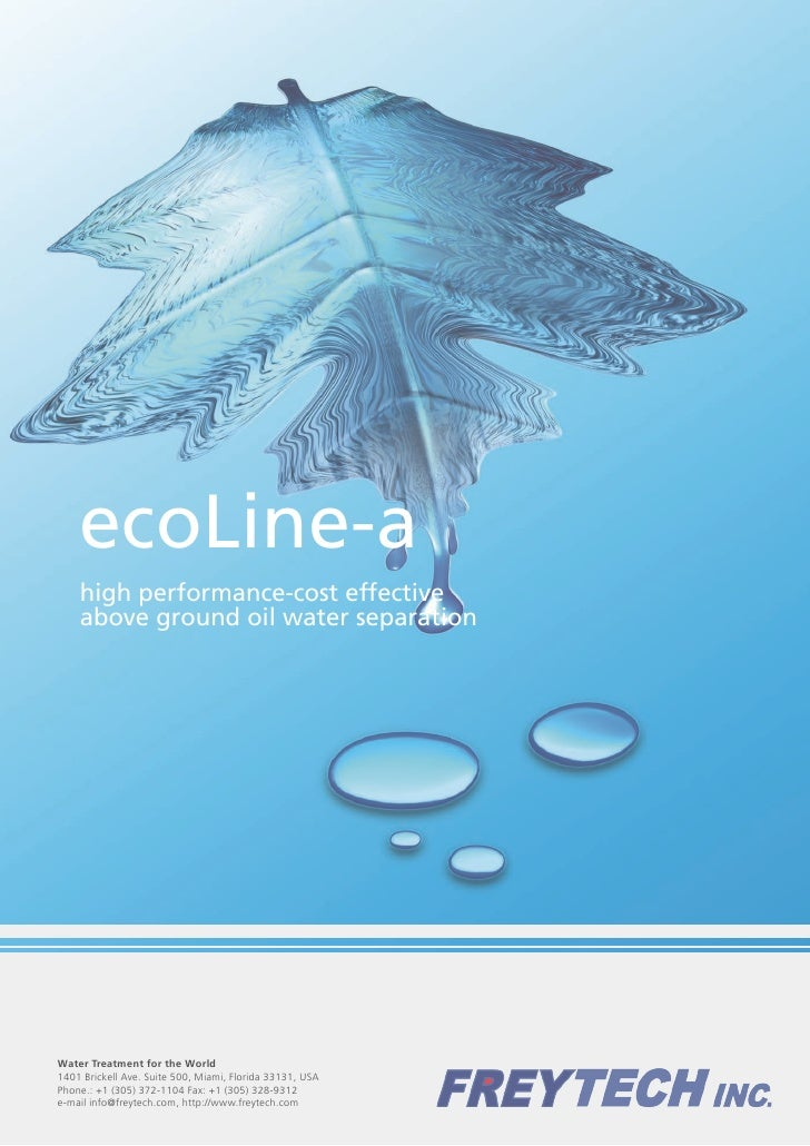 ecoLine-a     high performance-cost effective     above ground oil water separation     Water Treatment for the World 1401...