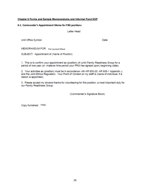 Sample Frg Appointment Letter