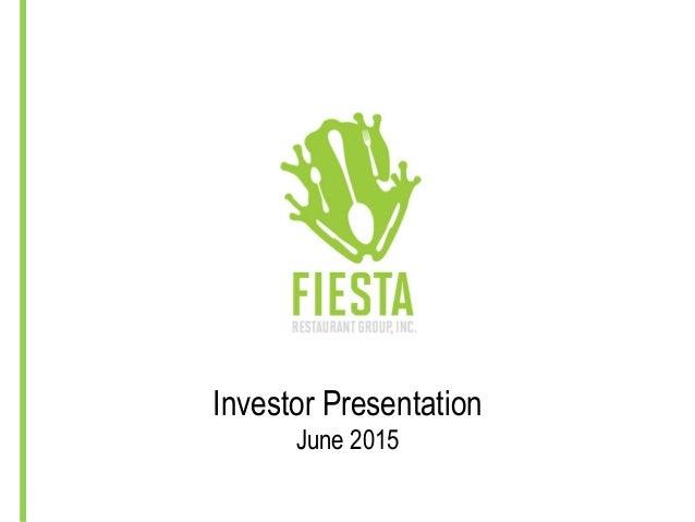Investor Presentation June 2015