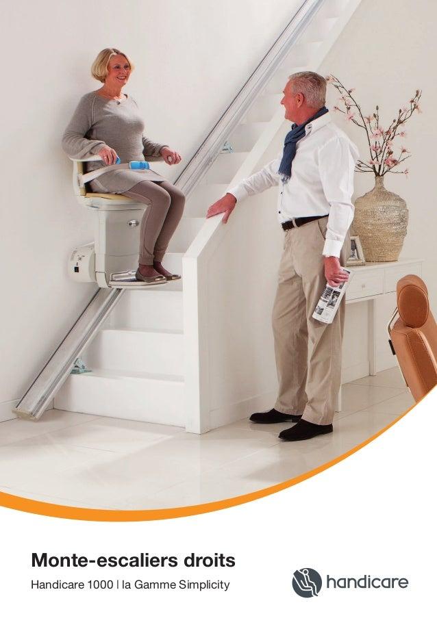 Monte-escaliers droits Handicare 1000 | la Gamme Simplicity