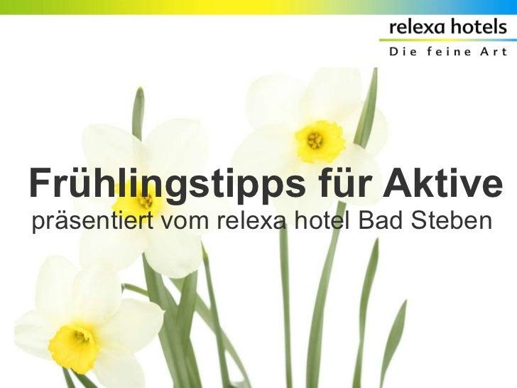 Frühlingstipps für Aktive präsentiert vom relexa hotel Bad Steben