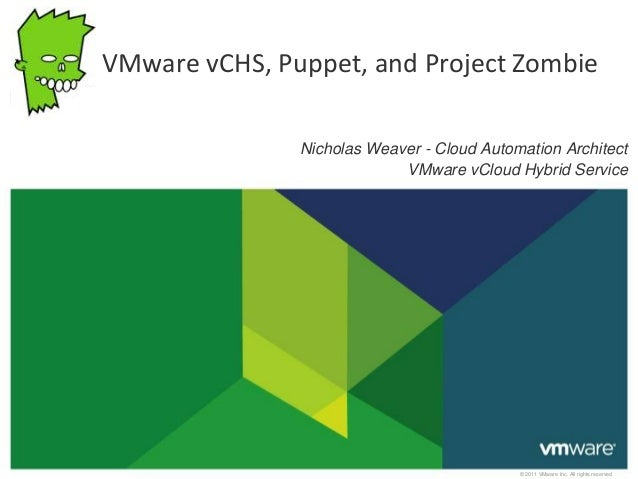 © 2011 VMware Inc. All rights reserved Nicholas Weaver - Cloud Automation Architect VMware vCloud Hybrid Service VMware vC...