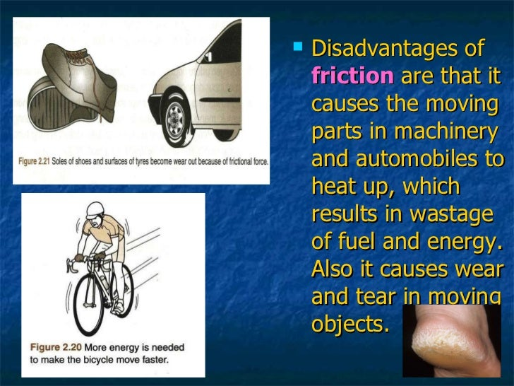 advantages and disadvantages of friction pdf