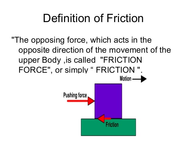 Worksheets Types Of Friction friction types of and different laws 2 definition of