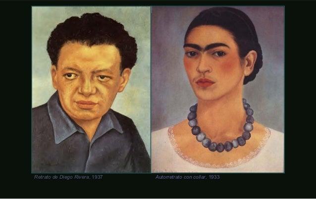 Autorretrato con collar,Autorretrato con collar, 19331933Retrato de Diego RiveraRetrato de Diego Rivera, 1937, 1937