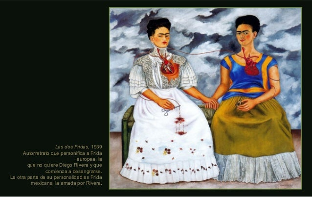Las dos Fridas,Las dos Fridas, 19391939 Autorretrato que personifica a FridaAutorretrato que personifica a Frida europea, ...
