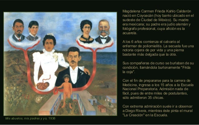 Mis abuelos, mis padres y yo,Mis abuelos, mis padres y yo, 19361936 Magdalena Carmen Frieda Kahlo CalderónMagdalena Carmen...