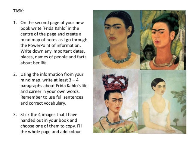 an analysis of frida kahlo and Kahlo cut her hair short a month after her divorce from fellow artist diego rivera, and she painted this self-portrait soon after here she depicted herself wearing.